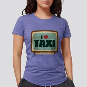 Retro I Heart Taxi Womens Tri-blend T-Shirt