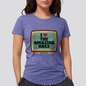Retro I Heart The Amazing Rac Womens Tri-blend T-S