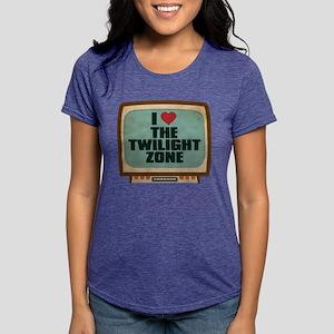 Retro I Heart The Twilight Zo Womens Tri-blend T-S