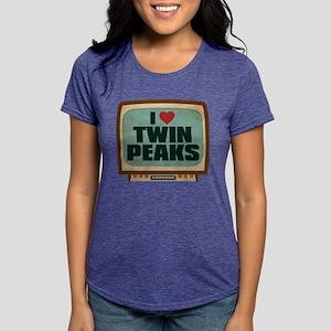 Retro I Heart Twin Peaks Womens Tri-blend T-Shirt