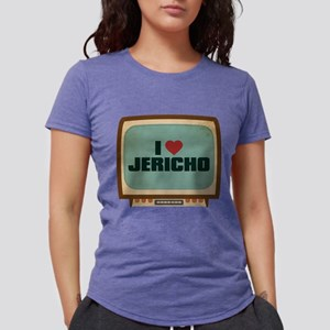 Retro I Heart Jericho Womens Tri-blend T-Shirt