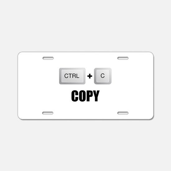 Copy Twins Aluminum License Plate