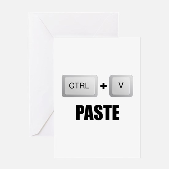 Paste Twins Greeting Card