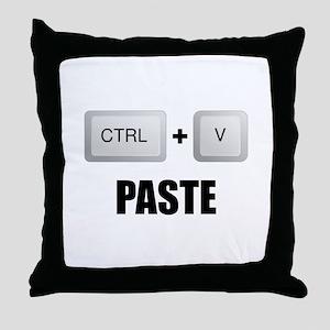 Paste Twins Throw Pillow
