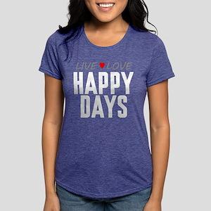 Live Love Happy Days Womens Tri-blend T-Shirt