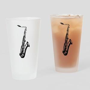 Saxophone Drinking Glass