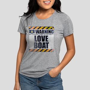 Warning: Love Boat Womens Tri-blend T-Shirt