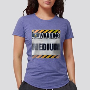 Warning: Medium Womens Tri-blend T-Shirt