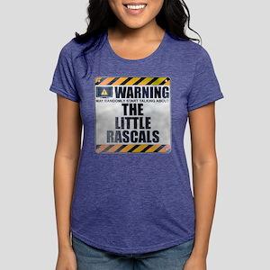 Warning: The Little Rascals Womens Tri-blend T-Shi
