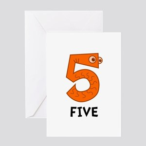 Number Five Greeting Card