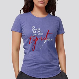It's Always Who You Least Exp Womens Tri-blend T-S