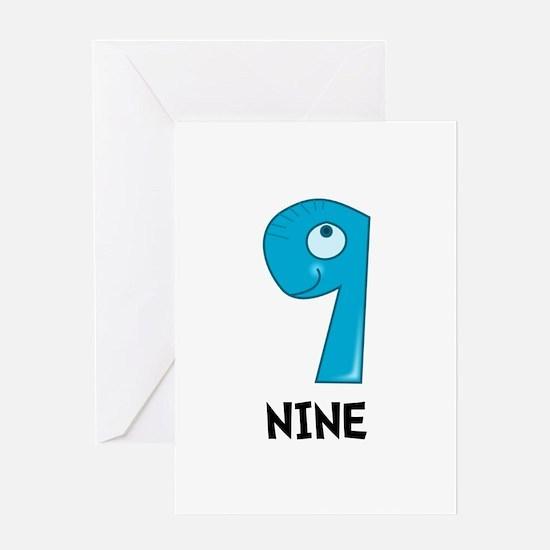 Number Nine Greeting Card