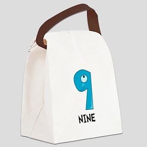 Number Nine Canvas Lunch Bag