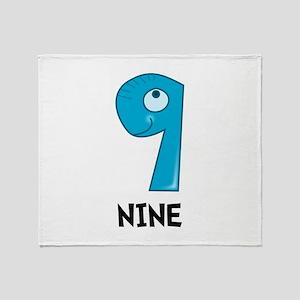 Number Nine Throw Blanket