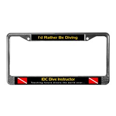 IDC Dive Instructor, License Plate Frame
