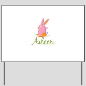Easter Bunny Aileen Yard Sign