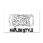 Party Shake Rectangle Car Magnet