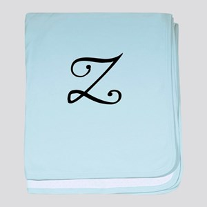 A Yummy Apology Monogram Z baby blanket