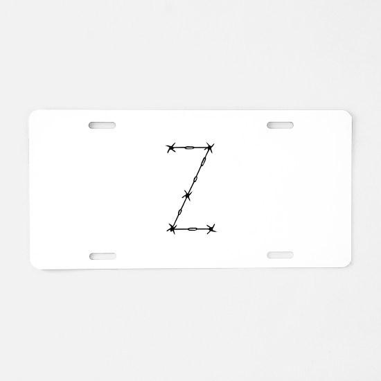 Barbed Wire Monogram Z Aluminum License Plate