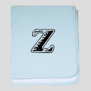 Scribbled Monogram Z baby blanket
