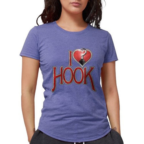 I Heart Hook Womens Tri-blend T-Shirt