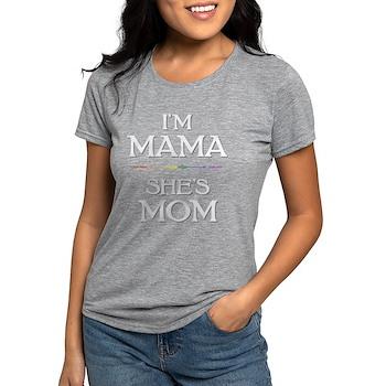 I'm Mama - She's Mom Womens Tri-blend T-Shirt