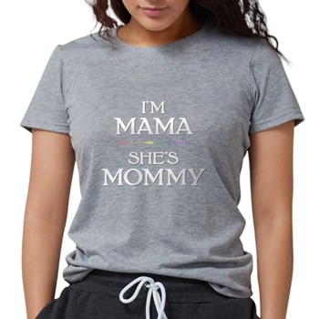 I'm Mama - She's Mommy Womens Tri-blend T-Shirt