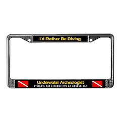 Underwater Archeologist, License Plate Frame
