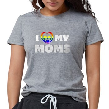 I Heart my Moms LGBT Womens Tri-blend T-Shirt