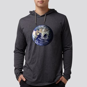 Eastern Earth from Space Mens Hooded Shirt