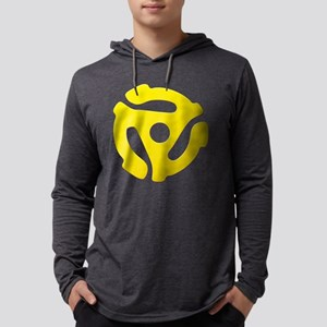 Yellow 45 RPM Adapter Mens Hooded Shirt
