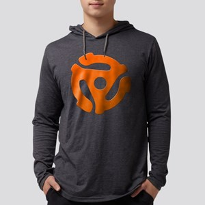 Orange 45 RPM Adapter Mens Hooded Shirt