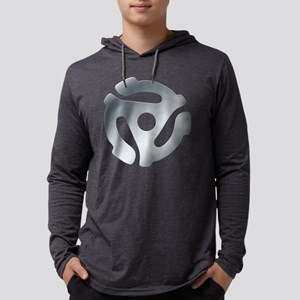 Silver 45 RPM Adapter Mens Hooded Shirt