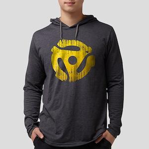 Distressed Yellow 45 RPM Adap Mens Hooded Shirt