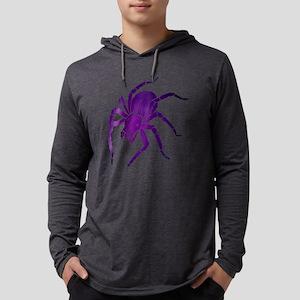 Purple Spider Mens Hooded Shirt