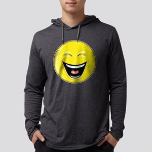 """Smiley Face - """"LOL"""" Laughing Mens Hooded Shirt"""
