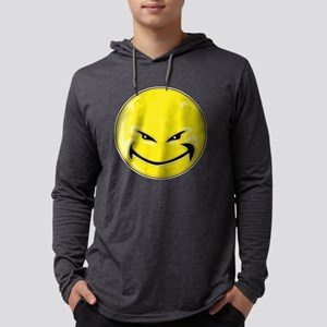Smiley Face - Yellow Devil Mens Hooded Shirt