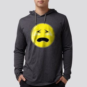 Smiley Face - Crying Mens Hooded Shirt
