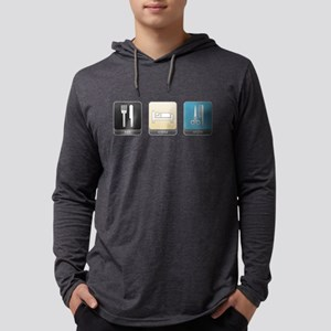 Eat, Sleep, Style Mens Hooded Shirt