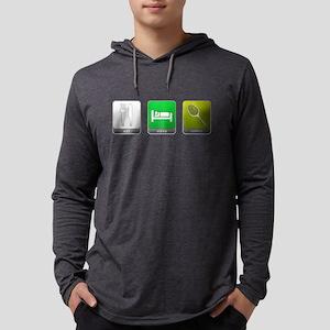 Eat, Sleep, Tennis Mens Hooded Shirt