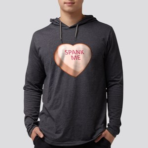 Spank Me Candy Heart Mens Hooded Shirt