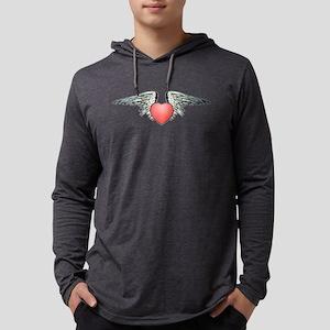 Angel Winged Heart Mens Hooded Shirt