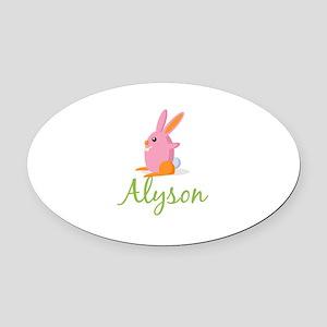 Easter Bunny Alyson Oval Car Magnet