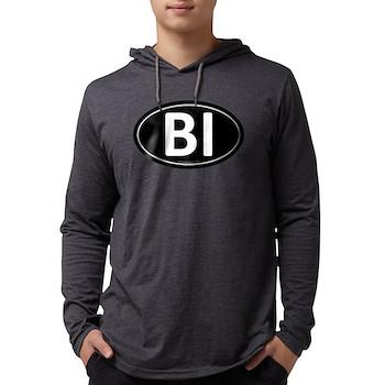 BI Black Euro Oval Mens Hooded Shirt