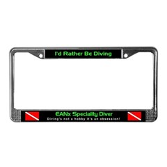 EANx Specialty Diver, License Plate Frame