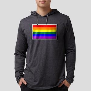 Rainbow Pride Flag Mens Hooded Shirt