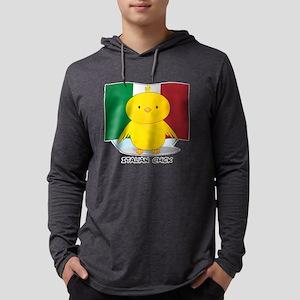 Italian Chick Mens Hooded Shirt