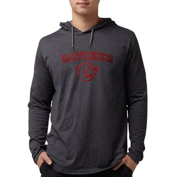 Catcher - Red Mens Hooded Shirt