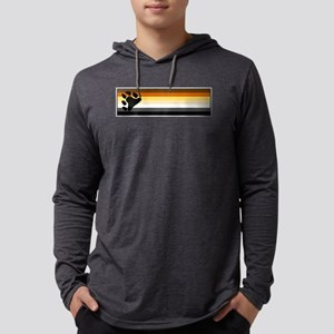 Bear Pride Flag Mens Hooded Shirt