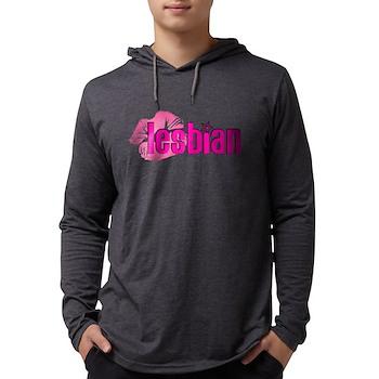 Lipstick Lesbian Mens Hooded Shirt